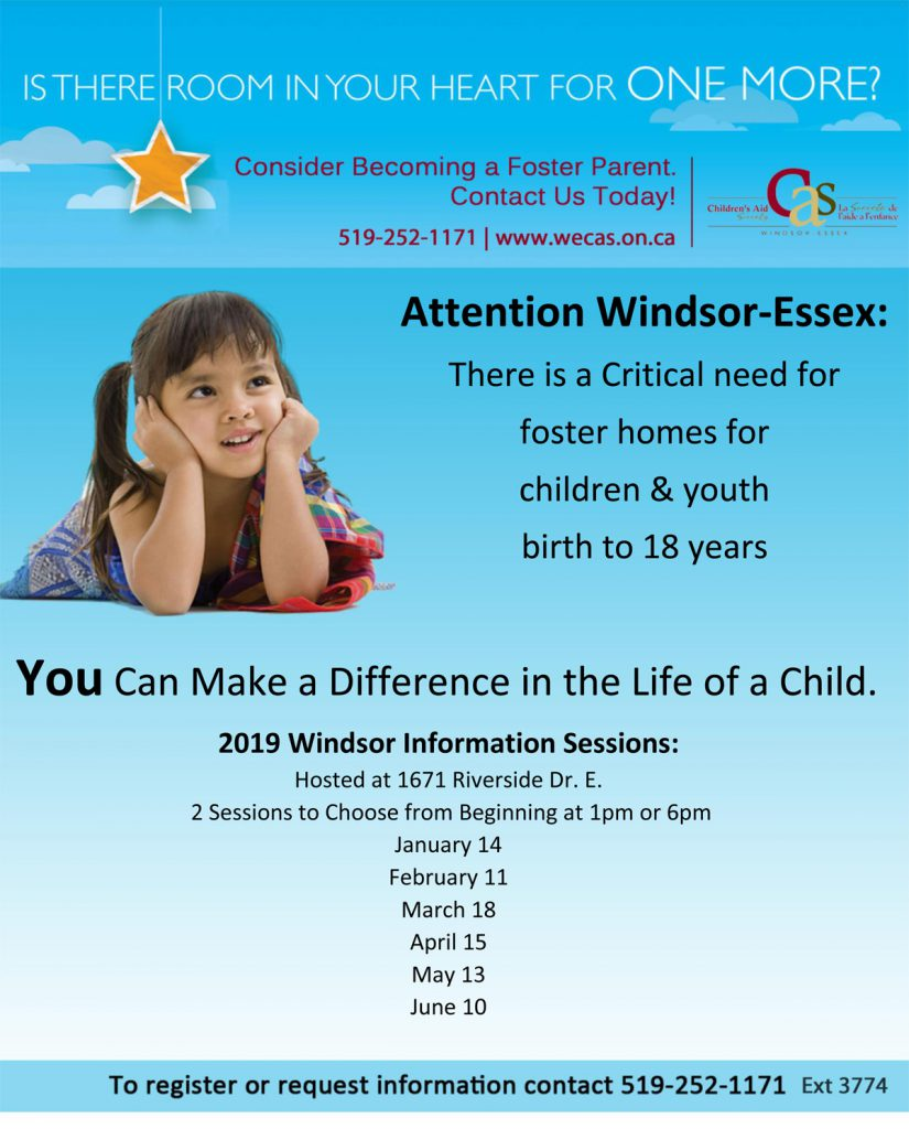 Fostering Info Sessions Windsor