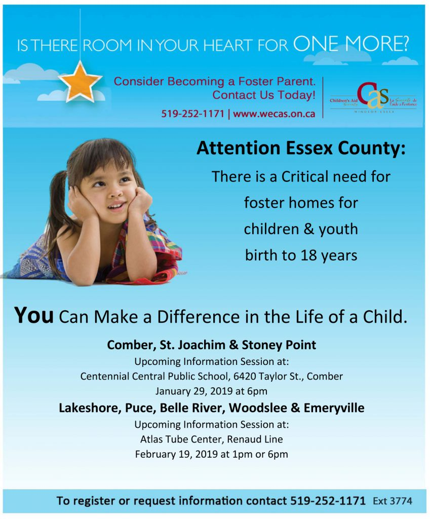 Lakeshore Fostering Information Sessions